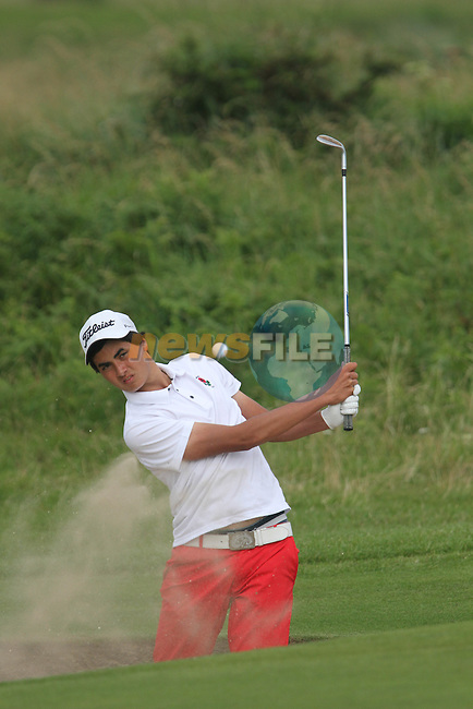 Patrick Kelly (ENG) on the 18th on the Final Day of the 2012 Boys Home Internationals at Co.Louth Golf Club in Baltray, Co.Louth...(Photo credit should read Jenny Matthews/NEWSFILE)...