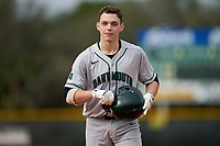 Dartmouth Big Green Ben Rice (9) during a game against the Indiana State Sycamores on February 21, 2020 at North Charlotte Regional Park in Port Charlotte, Florida.  Indiana State defeated Dartmouth 1-0.  (Mike Janes/Four Seam Images)