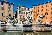 Fountain of Neptune located in the Piazza Navona, Rome, Italy