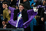 An Anderlecht fan after Anderlecht's Leander Dendoncker scored the equaliser during the Europa League Quarter Final 1st leg match at RSCA Constant Vanden Stock Stadium, Anderlecht, Belgium. Picture date: April 13th, 2017.Pic credit should read: Charlie Forgham-Bailey/Sportimage