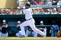 Detroit Tigers catcher Alex Avila #13 during a Spring Training game against the Atlanta Braves at Joker Marchant Stadium on February 27, 2013 in Lakeland, Florida.  Atlanta defeated Detroit 5-3.  (Mike Janes/Four Seam Images)