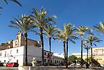 Historic Plaza del Mercado, Barrio de Santiago, Iglesia de San Mateo, Jerez de la Frontera, Spain