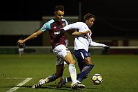 Kazaiah Sterling of Tottenham and Josh Park of West Ham during West Ham United Under-23 vs Tottenham Hotspur Under-23, Premier League 2 Football at the Chigwell Construction Stadium on 12th February 2018