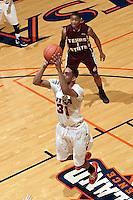 SAN ANTONIO, TX - FEBRUARY 25, 2012: The Texas State University Bobcats vs. The University of Texas at San Antonio Roadrunners Men's Basketball at the UTSA Convocation Center. (Photo by Jeff Huehn)