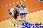 KANSAS CITY, MO - DECEMBER 16: University of Florida celebrate after scoring during the Division I Women's Volleyball Championship held at Sprint Center on December 16, 2017 in Kansas City, Missouri. (Photo by Jamie Schwaberow/NCAA Photos via Getty Images)