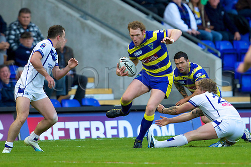 20.05.2011. Warrington Wolves v Swinton Lions. Joel Monaghan about to score another try for Wolves. Warrington Wolves 112 Swinton Lions 0.