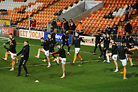 Blackpool during the pre-match warm-up <br /> <br /> Photographer Kevin Barnes/CameraSport<br /> <br /> Emirates FA Cup Third Round Replay - Blackpool v Reading - Tuesday 14th January 2020 - Bloomfield Road - Blackpool<br />  <br /> World Copyright © 2020 CameraSport. All rights reserved. 43 Linden Ave. Countesthorpe. Leicester. England. LE8 5PG - Tel: +44 (0) 116 277 4147 - admin@camerasport.com - www.camerasport.com
