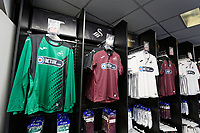 Pictured: Kits on display. Friday 24 August 2018<br /> Re: Swansea City FC third kit launch at the club shop, Liberty Stadium, Swansea, Wales, UK.