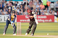 Babar Azam of Somerset CCC with a classical off drive during Essex Eagles vs Somerset, Vitality Blast T20 Cricket at The Cloudfm County Ground on 7th August 2019