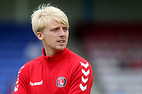 George Lapslie of Charlton Athletic ahead of kick-off during Welling United vs Charlton Athletic, Friendly Match Football at the Park View Road Ground on 13th July 2019