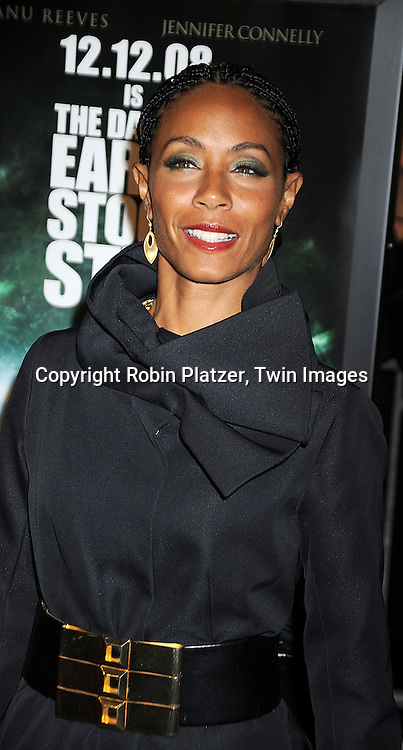 """actress Jada Pinkett Smith in Louis Vuitton ..at The New York Premiere of """"The Day the Earth Stood Still"""" on December 9, 2008 at the AMC Loews Lincoln Square. Keanu Reeves, Jennifer Connelly, Kathy Bates, ..Jaden Smith and Jon Hamm are in the movie....Robin Platzer, Twin Images"""