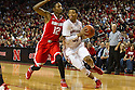 January 20, 2014: Shavon Shields (31) of the Nebraska Cornhuskers drives to the hoop against Sam Thompson (12) of the Ohio State Buckeyes at the Pinnacle Bank Arena, Lincoln, NE. Nebraska won in the game against Ohio State 68 to 62.