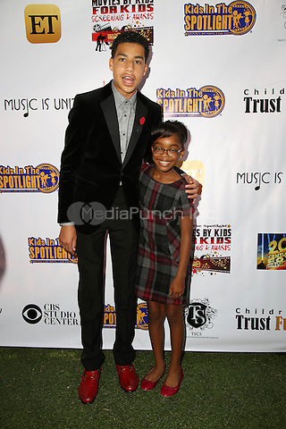 LOS ANGELES, CA - NOVEMBER 7: Marcus Scribner and Marsai Martin at the Kids In The Spotlight's Movies By Kids, For Kids Film Awards at Fox Studios in Los Angeles, California on November 7, 2015. Credit: David Edwards/MediaPunch