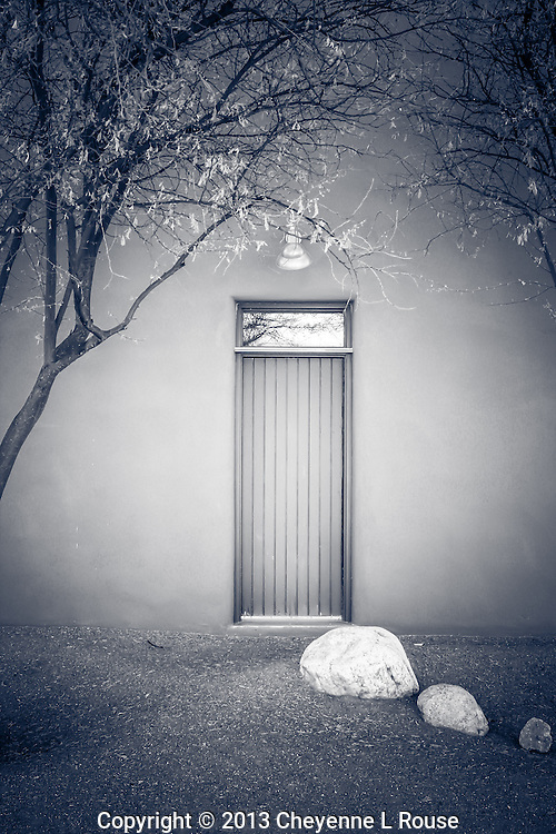 Zen Doorway - Arizona - BW