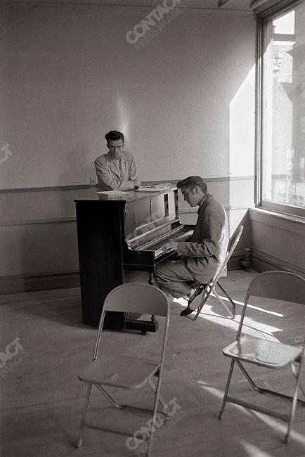 Rehearsal of the Steve Allen show, New York, USA, June 29, 1956