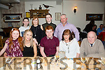 Alex Lawlor from Lixnaw who celebrated his 16th birthday with family and friends at Bela Bia on Friday night. Front l-r  Eva Nolan, Charmaine Lawlor, Alex Lawlor, Catherine Lawlor and Noel Lawlor. Back l-r  Brian Nolan, Kerry Nolan, Bobby Gale and Tony Nolan