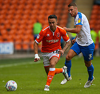 Blackpool's John O'Sullivan gets away from Portsmouth's Lee Brown<br /> <br /> Photographer Alex Dodd/CameraSport<br /> <br /> The EFL Sky Bet League One - Blackpool v Portsmouth - Saturday August 11th 2018 - Bloomfield Road - Blackpool<br /> <br /> World Copyright &copy; 2018 CameraSport. All rights reserved. 43 Linden Ave. Countesthorpe. Leicester. England. LE8 5PG - Tel: +44 (0) 116 277 4147 - admin@camerasport.com - www.camerasport.com