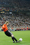 08 July 2006: Oliver Kahn (GER) takes a goal kick. Germany defeated Portugal 3-1 at the Gottlieb-Daimler Stadion in Stuttgart, Germany in match 63, the third-place game, of the 2006 FIFA World Cup.