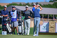 Blayne Barber (USA) watches his tee shot on 11 during round 4 of the Valero Texas Open, AT&amp;T Oaks Course, TPC San Antonio, San Antonio, Texas, USA. 4/23/2017.<br /> Picture: Golffile | Ken Murray<br /> <br /> <br /> All photo usage must carry mandatory copyright credit (&copy; Golffile | Ken Murray)