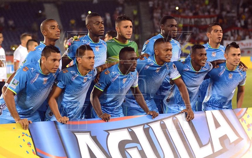 BARRANQUILLA  -COLOMBIA, 21-FEBRERO-2015. Formacion de Jaguares contra Junior   durante partido por la fecha 5 de la Liga   çguila I 2015 jugado en el estadio Metropolitano  de la ciudad de Barranquilla./ Team of Jaguares  against  Junior during the match for the fifth date of the Liga  Aguila  I 2015 played at Metropolitano  stadium in Barranquilla city<br />  . Photo / VizzorImage / Alfonso Cervantes / Stringer