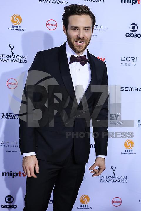 NEW YORK, NY 21.11.2016 - EMMY-2016 - Ben Rappaport durante tapete vermelho do Emmy Internacional 2016 prêmio dos melhores atores e novelas da TV, em Nova York, nos Estados Unidos na noite desta segunda-feira, 21. (Foto: Vanessa Carvalho/Brazil Photo Press)