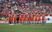 Philadelphia, PA - Tuesday June 14, 2016: Chilean players prior to a Copa America Centenario Group D match between Chile (CHI) and Panama (PAN) at Lincoln Financial Field.
