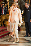 Maria Teresa Fernandez de la Vega attends to Sapnish National Day palace reception at the Royal Palace in Madrid, Spain. October 12, 2018. (ALTERPHOTOS/A. Perez Meca)