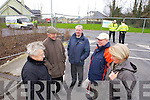 Protesters wait for Health Minister Dr James Reilly at Tralee Community hospital on Friday.