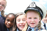 Charlotte O'Neill and friends try on a Coastguard hat when the Coastguard visited Marymount NS to give a talk about Water Safety...Photo NEWSFILE/Jenny Matthews.(Photo credit should read Jenny Matthews/NEWSFILE)....This Picture has been sent you under the condtions enclosed by:.Newsfile Ltd..The Studio,.Millmount Abbey,.Drogheda,.Co Meath..Ireland..Tel: +353(0)41-9871240.Fax: +353(0)41-9871260.GSM: +353(0)86-2500958.email: pictures@newsfile.ie.www.newsfile.ie.FTP: 193.120.102.198.