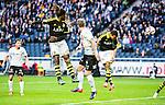 Solna 2015-04-26 Fotboll Allsvenskan AIK - &Ouml;rebro SK :  <br /> AIK:s Nabil Bahoui g&ouml;r 1-0 med en nick under matchen mellan AIK och &Ouml;rebro SK <br /> (Foto: Kenta J&ouml;nsson) Nyckelord:  AIK Gnaget Friends Arena Allsvenskan &Ouml;rebro &Ouml;SK jubel gl&auml;dje lycka glad happy