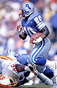 Detroit Lions Barry Sanders (20) in action during a game against the Tampa Bay Buccaneers on November 10, 1991 at Tampa Stadium  in Tampa, Florida.  The Buccaneers beat the Lions 30-21. Barry Sanders  was inducted to the Pro Football Hall of Fame in 2004