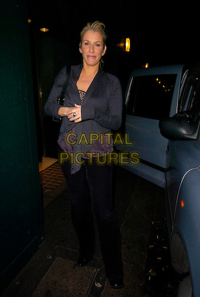 SARA DALLIN.Leaving The Ivy restaurant,.London, England, December 17th 2007..full length Bananarama grey top.CAP/CAN.©Can Nguyen/Capital Pictures