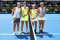 L-R Sara Errani (ITA) and Bibiane Schoofs (NL) and Miyu Kato (JPN) and  Eri Hozumi (JPN) during the ASB Classic WTA Women's Tournament Day 7 Doubles Final. ASB Tennis Centre, Auckland, New Zealand. Sunday 7 January 2018. ©Copyright Photo: Chris Symes / www.photosport.nz