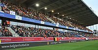 20180406 - LEUVEN , BELGIUM : illustration from part of the 7700 spectators in the stadion pictured during the female soccer game between the Belgian Red Flames and Portugal , the fourth game in the qualificaton for the World Championship qualification round in group 6 for France 2019, Friday 6 th April 2018 at OHL Stadion Den Dreef in Leuven , Belgium. PHOTO SPORTPIX.BE | DIRK VUYLSTEKE