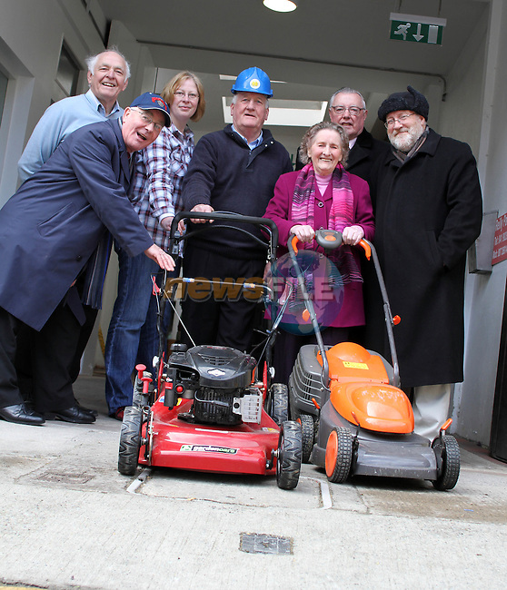 Paddy Smith, Kay Dunican, William Woods, Maeve Healy, Christopher Doggett and Pat Shields at the launch the Care and Repair Programme at the Drogheda Senior Citizens office on Mayorality Street. ..(Photo credit should read Jenny Matthews/www.newsfile.ie)....This Picture has been sent you under the conditions enclosed by:.Newsfile Ltd..The Studio,.Millmount Abbey,.Drogheda,.Co Meath..Ireland..Tel: +353(0)41-9871240.Fax: +353(0)41-9871260.GSM: +353(0)86-2500958.email: pictures@newsfile.ie.www.newsfile.ie.