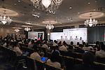 (L-R) Kunio Nakamori, Seiichi Sakurai,  Hiroya Otsuki, Reo Fujimoto, Yui Kamiji (JPN), <br /> AUGUST 2, 2016 : <br /> Japan National team attend a press conference <br /> for Rio Paralympic Games <br /> in Tokyo, Japan. <br /> (Photo by AFLO SPORT)