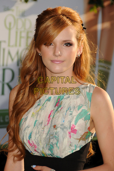 "Bella Thorne.""The Odd Life of Timothy Green"" Los Angeles Premiere, Hollywood, California, USA..August 6th, 2012.headshot portrait  black sleeveless white green print top.CAP/ADM/BP.©Byron Purvis/AdMedia/Capital Pictures."