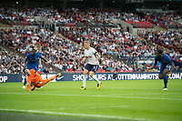 Chelsea's Michy Batshuayi no23 scoring own goal during the Premier League match between Tottenham Hotspur and Chelsea at Wembley Stadium, London, England on 20 August 2017. Photo by Andrew Aleksiejczuk / PRiME Media Images.