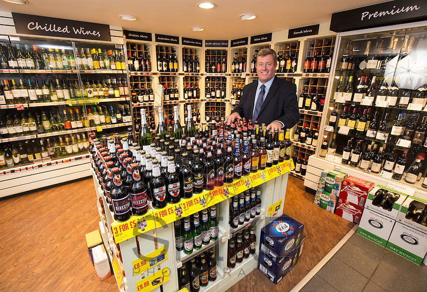 Johnathan James who runs 36 Bargain Booze Stores