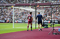 Felipe Anderson goes off injured during West Ham United vs Manchester City, Premier League Football at The London Stadium on 10th August 2019