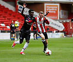 Papae Souare of Crystal Palace and Jordan Hallam of Sheffield Utd during the Professional Development U23 match at Bramall Lane, Sheffield. Picture date 4th September 2017. Picture credit should read: John Taff/Sportimage