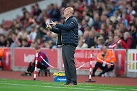 Rochdale Manager Keith Hill during the Carabao Cup match between Stoke City and Rochdale at the Britannia Stadium, Stoke-on-Trent, England on 23 August 2017. Photo by James Williamson / PRiME Media Images.