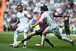 Real Madrid's  Jese Rodriguez and Daniel Carvajal and Sociedad Deportiva Eibar's Jota Peleteiro during La Liga match. April 09, 2016. (ALTERPHOTOS/Borja B.Hojas)
