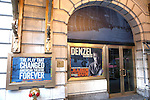 Theatre Marquee installation of Broadway's 'A Raisin In The Sun' starring Denzel Washington, Diahann Carroll and Anika Noni Rose at the Barrymore Theatre  on January 13, 2014 in New York City.
