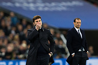 Tottenham Hotspur manager Mauricio Pochettino looks dejected <br /> <br /> Photographer Craig Mercer/CameraSport<br /> <br /> UEFA Champions League Round of 16 Second Leg - Tottenham Hotspur v Juventus - Wednesday 7th March 2018 - Wembley Stadium - London <br />  <br /> World Copyright &copy; 2017 CameraSport. All rights reserved. 43 Linden Ave. Countesthorpe. Leicester. England. LE8 5PG - Tel: +44 (0) 116 277 4147 - admin@camerasport.com - www.camerasport.com