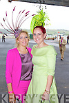 Elaine Kelleher and Joann Murphy at Listowel Races Ladies Day on Sunday.