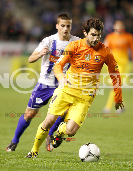 FC Barcelona's Cesc Fabregas during Spanish King's Cup match.October 30,2012. (ALTERPHOTOS/Acero) /NortePhoto