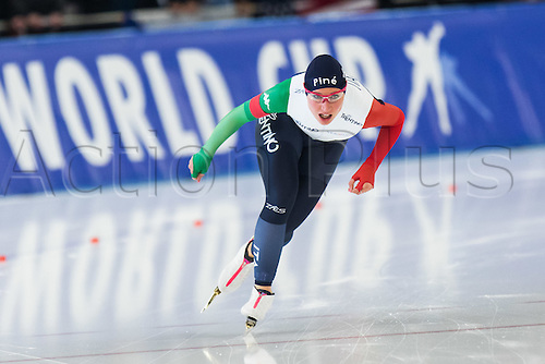January 29th 2017, Sportforum, Berlin, Germany; ISU Speed Skating World Cup;  ISU Speed Skating World Cup , 3000m Division A; Francesca Lollobrigida (ITA)