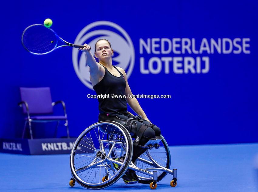 Rotterdam, Netherlands, December 12, 2017, Topsportcentrum, Ned. Loterij NK Tennis, Womans Wheelchair, Donna Jansen (NED)<br /> Photo: Tennisimages/Henk Koster