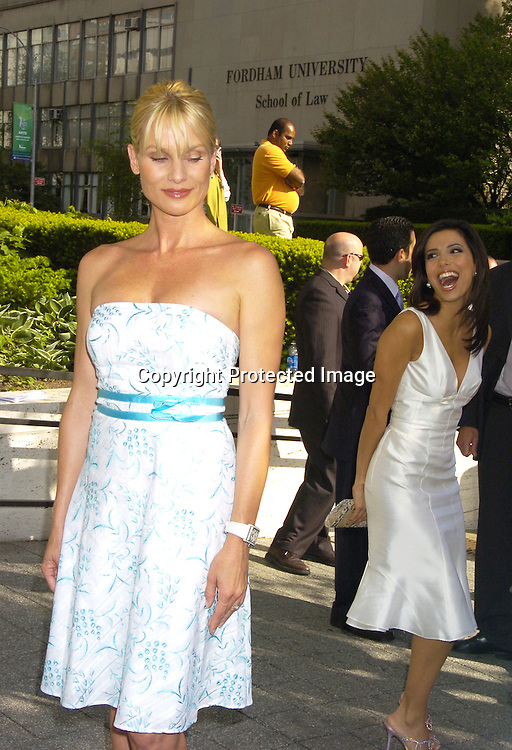 Nicolette Sheridan  and Eva Longoria ..at The ABC Upfront Announcement of Their Fall Schedule on May 17, 2005 at Lincoln Center...Photo by Robin Platzer, Twin Images